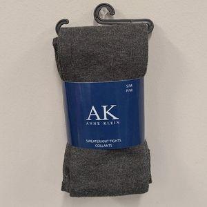 AK Anne Klein gray sweater knit tights size S/M